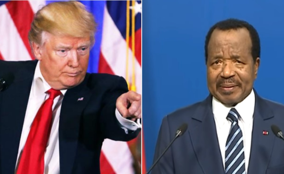 Image result for Donald Trump sanctions President Paul Biya of Cameroon over the country's