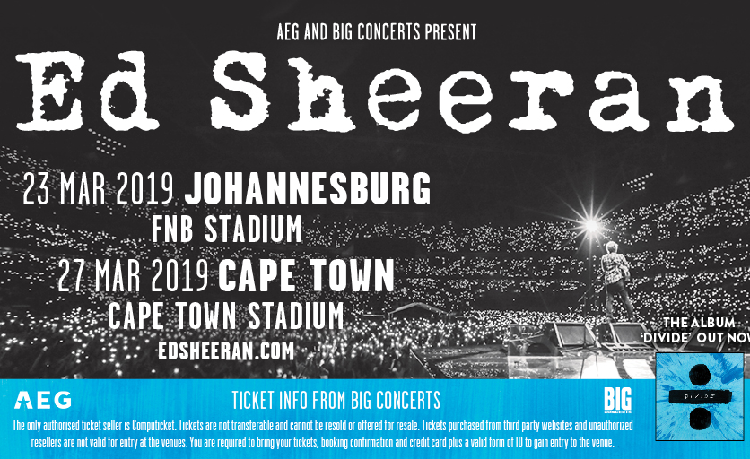 South Africa: ED Sheeran's Cape Town Show Is Officially ...