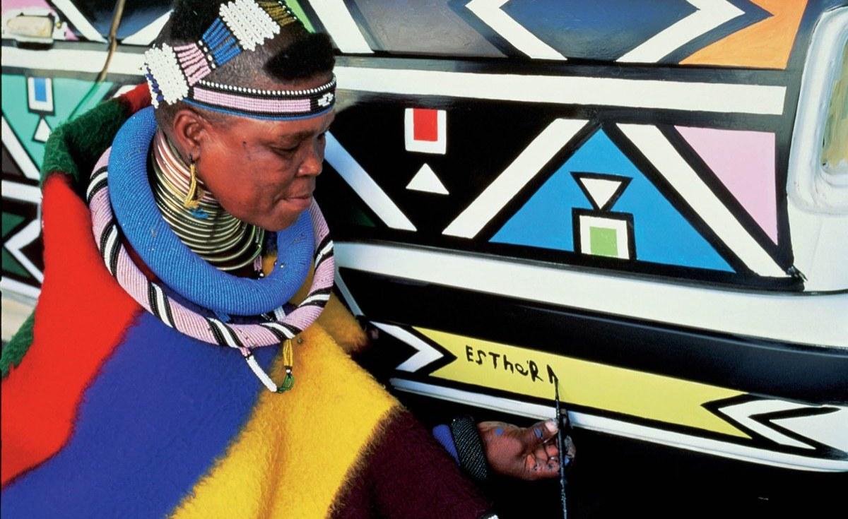 South Africa: Dr Esther Mahlangu Unveils the 'Mahlangu' Rolls-Royce Phantom At the Melrose Gallery