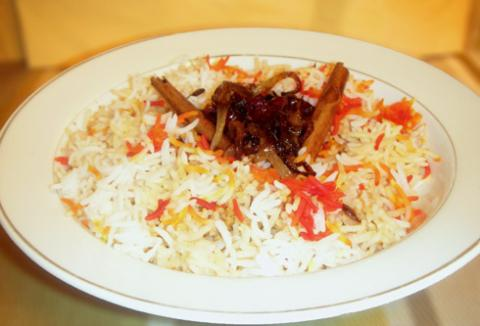 Plain Rice flavored with spices