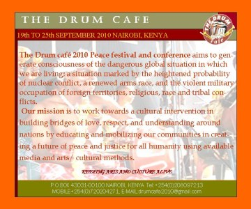 The Drum Cafe 2010 Peace Arts Festival/Conference