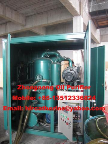 High voltage transformer oil purification equipment/ZYD insulating oil filter
